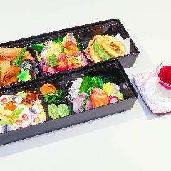 """②【仕出し弁当】""""旬彩二段重"""" 2,500円(税抜)"""