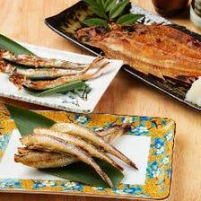 最近では海鮮の干物も炭火焼きでご提供! 内容は日替わりです。店頭にてご確認を♪