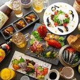 瀬戸内鮮魚から始まり創作釜飯で〆る