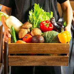 【野菜】兵庫県産を中心に産地直送。濃厚で瑞々しい旨みは、主役級の味わい