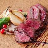 ステーキは淡路牛や神戸牛など