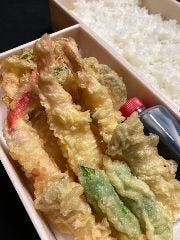 蟹、海老天丼弁当