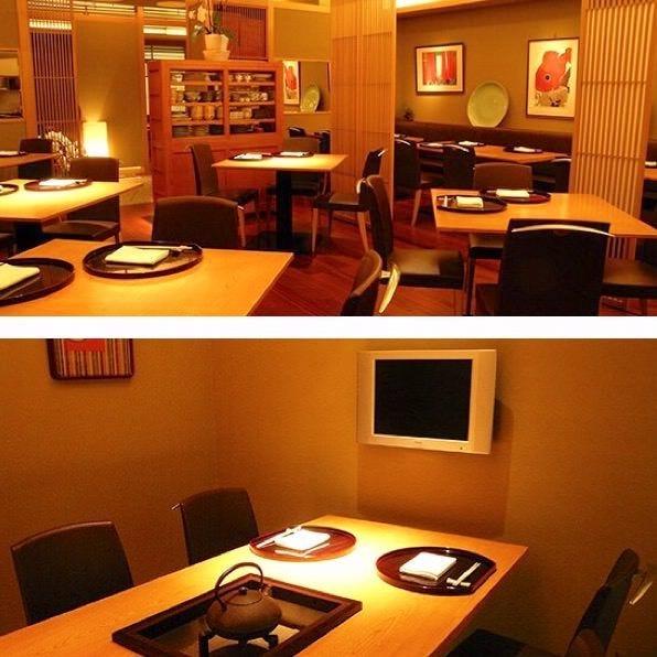 個室2部屋を繋げて広くご利用可能です。