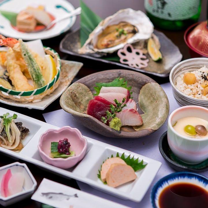 旬を盛り込んだ和食会席コース