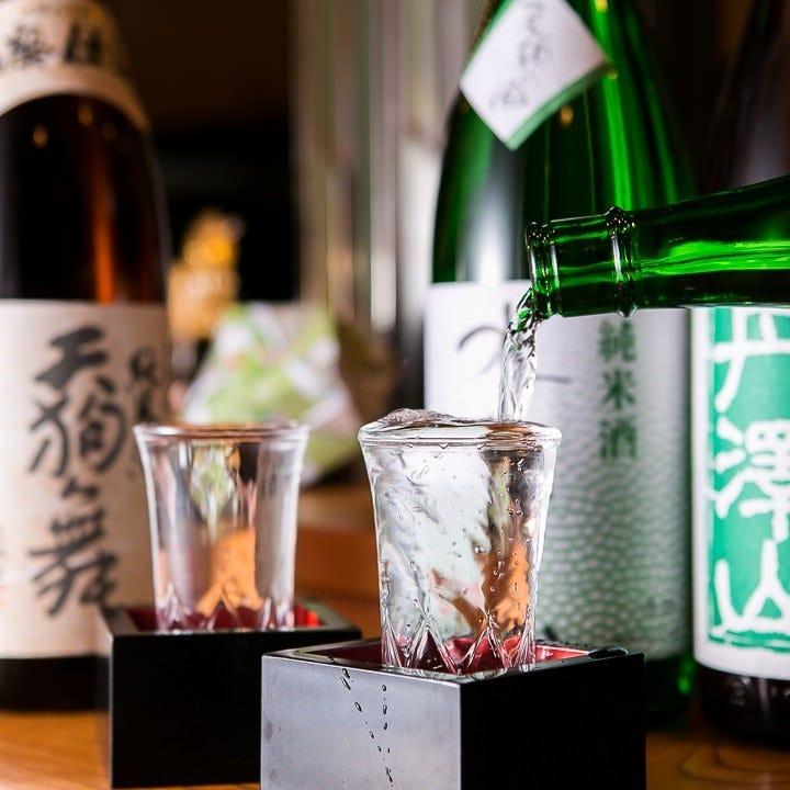日本酒をはじめ、焼酎、ワインも