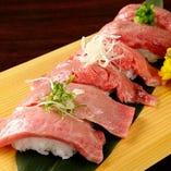 近江肉寿司食べ比べ3種