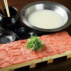 濃厚白湯の牛タンしゃぶしゃぶ