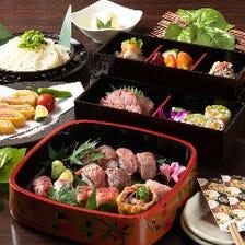 〈全5品〉近江肉寿司は10種。近江牛はレア唐揚げも。滋賀県産食材、地鶏などの前菜付『近江肉寿司コース』