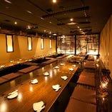 シーンに合わせて選べる個室 最大60名様対応の堀りごたつ個室◎