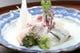 真鯛の松皮造り、細魚