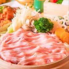 三元豚のハリハリ蒸籠鍋