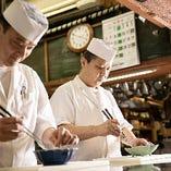 和食一筋の料理人が、その技量と感性を生かして