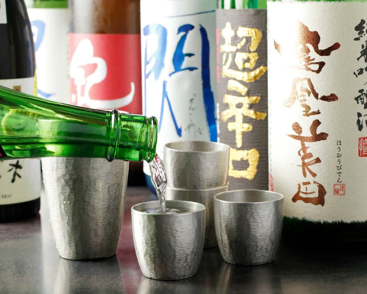 蔵直から珍しい地酒まで40種類以上!