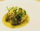 春の香りいっぱい タラの白子のムニエール、春キャベツのソース