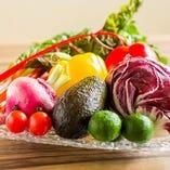 野菜も鮮度の高いものを全国から取り寄せております!