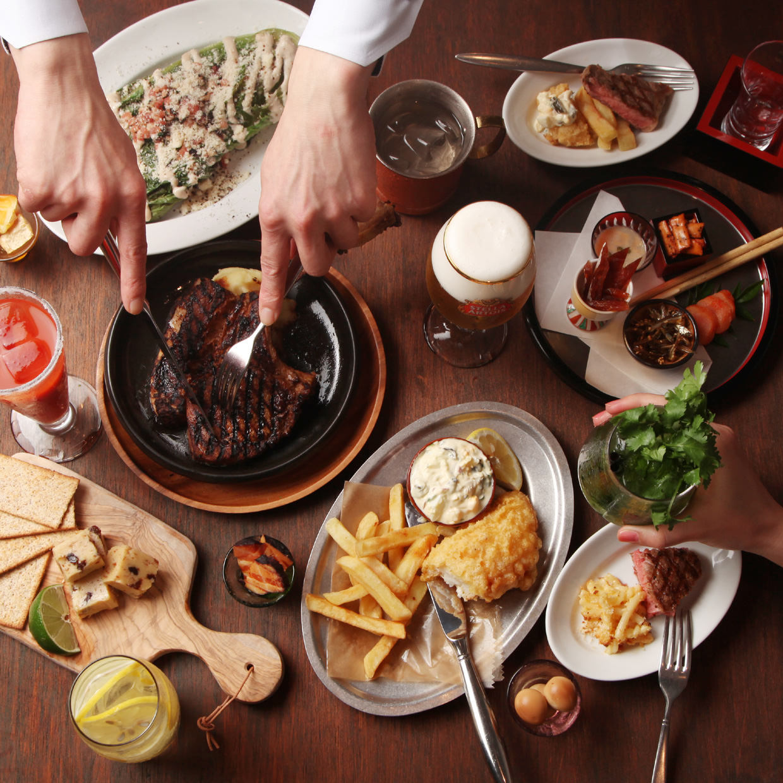人気料理を楽しめる4品¥2,200、7品¥4,400のスタンダードコース♪
