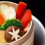温野菜焼き〜オリジナルディップ添え〜 ASSORTRD STEAMED VEGETABLE-WITH ORIGINAL DIP-