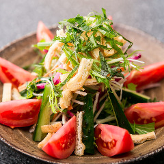 パリパリ揚げと水菜のサラダ