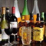 飲み放題メニューは地酒や人気の焼酎含む銀座最大級100種以上!