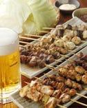 焼き鳥にはやっぱり生ビール 間違いない!