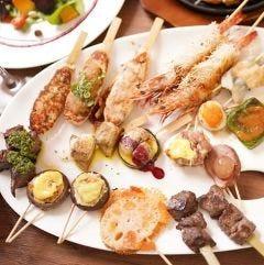 【彩り豊かなソースで食べる】おまかせ鉄板串 5本(1人前)