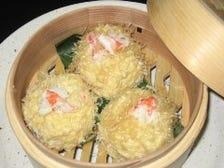 ずわい蟹と豆腐の湯葉シューマイ