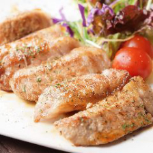 鶏モモ黒胡椒ステーキ