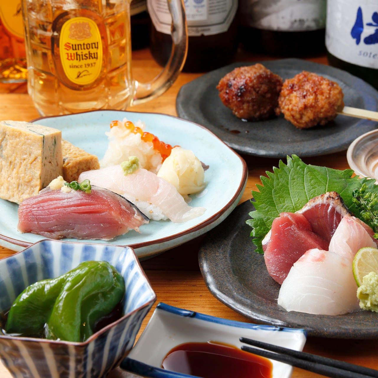 気まぐれ料理で晩酌を『日替わりおまかせ晩酌コース』1,500円〜