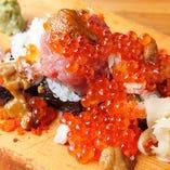 歳の数のてんこ盛り寿司