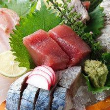 旬の刺身と厳選日本酒で感じる季節感