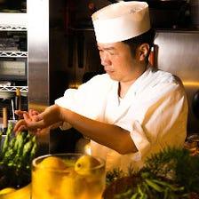 寿司屋仕込みの目利きと匠技