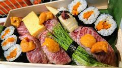 A5和牛ウニ肉寿司弁当