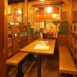 懐かしい雰囲気のテーブル個室