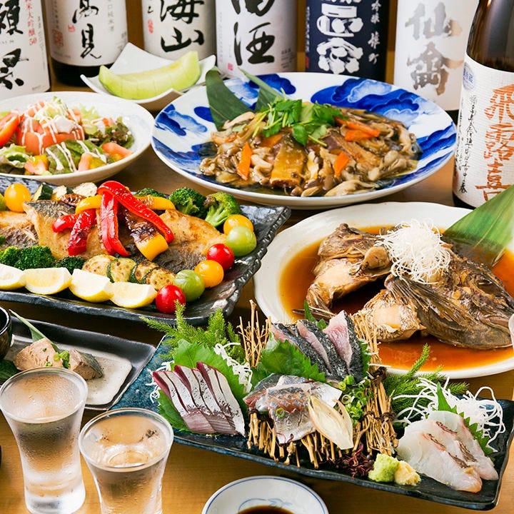【2時間飲み放題付】ぐるなび限定!鮮魚の階段盛りと旬の鮮魚、熟成魚と野菜満載のフルコース〈全7品〉