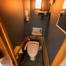 清潔なトイレを完備