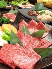 『特選コース』特選黒毛和牛のハラミと稀少部位2種が味わえるコース。<全11品> 8,000円 宴会・記念日