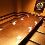 同窓会・女子会にぜひ!人気の掘りごたつ個室です。
