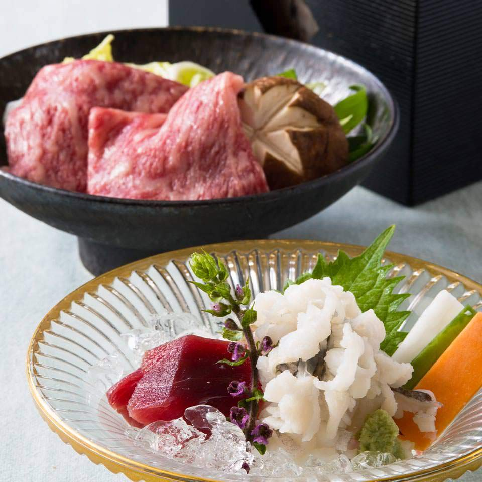 【土日祝ランチ】堀川~鱧と黒毛和牛しゃぶ鍋を味わう~