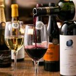 料理に合うワインも種類が豊富!