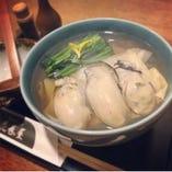 冬季限定の広島県産の牡蠣そば