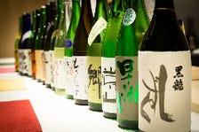 県内屈指!日本酒を70種類以上ご用意