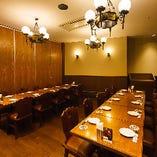 ご宴会に◎半個室は3つご用意しております。