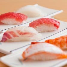 鮮度抜群!熟練の職人技光る本格寿司