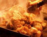 矮鶏名物 地鶏の炙り焼き アツアツを召し上がれ!