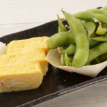 ○玉子焼きと枝豆