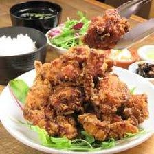 【ランチ限定】若鶏の唐揚げ定食!