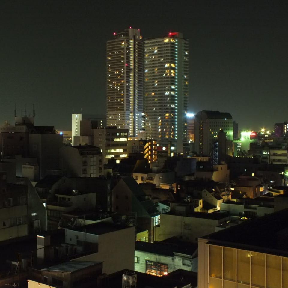 ホテル最上階からの夜景が自慢