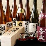 瀬祭、景虎など、厳選美酒を数多く取り揃え