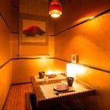 ◆優しく灯る間接照明が印象的な個室。団体様も最大40 名様迄◆
