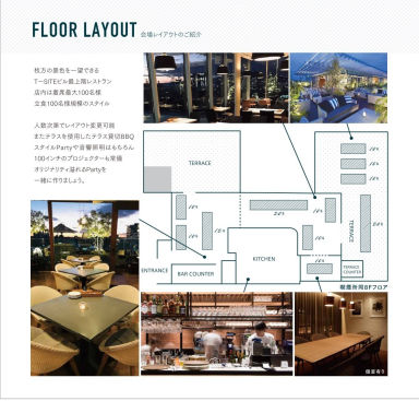 MEAL TOGETHER ROOF TERRACE 枚方T‐SITE店 店内の画像